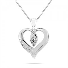 Diamond Mom Pendant in 10K White Gold