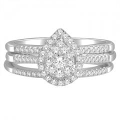 10k White Gold 1/2ct TDW Diamond Bridal Set (H-I, I2)