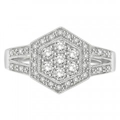 0.50CT Diamond Ring in .925 Sterling Silver