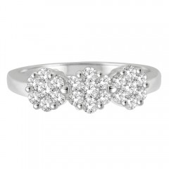 0.75 CT Diamond Ring in .925 Sterling Silver