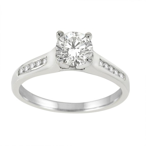 1.00CT Diamond Engagement Ring in 14k White Gold