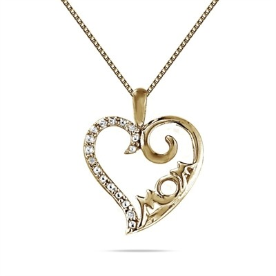 10k Yellow Gold Best Mom Pendant