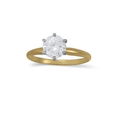 1.00 CT Diamond Solitaire Ring in 14K Yellow Gold