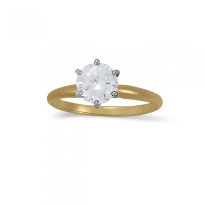 0.75 CT Diamond Solitaire Ring in 10K Yellow Gold