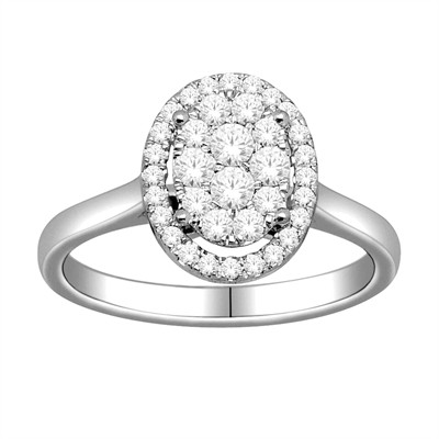 10k White Gold 1/2ct TDW Diamond Engagement Ring (H-I, I2)