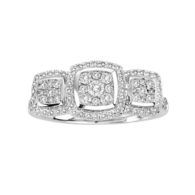 10k White Gold 1/2ct TDW Diamond Ring (H-I, I2)