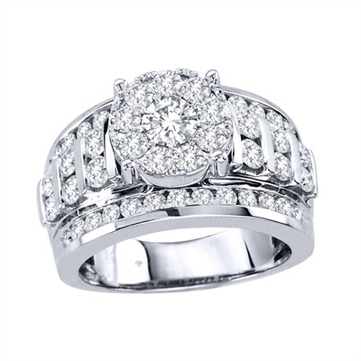 10k White Gold 2ct TDW Diamond Engagement Ring (H-I, I2)