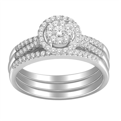 10k White Gold 1/2ct TDW Diamond Bridal Ring Set (H-I, I2-I3)
