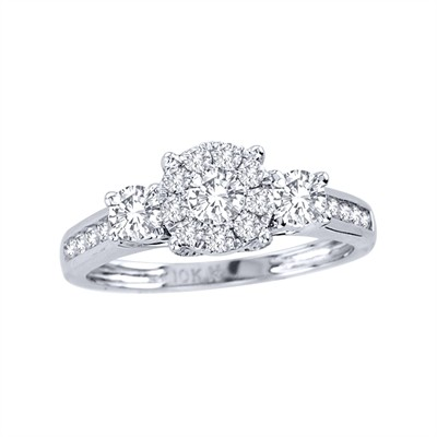 10k White Gold 1ct TDW Diamond Engagement Ring (H-I, I2)