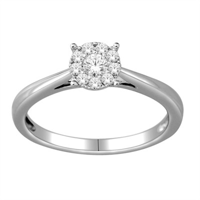 10k White Gold 1/4ct TDW Diamond Ring (H-I, I2)
