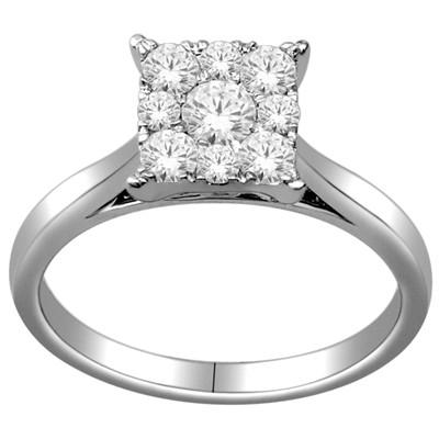 10k White Gold 1/2ct TDW Diamond Engagement Ring (H-I, I2-I3)