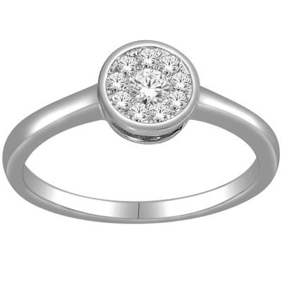 10k White Gold Imperial Diamond Ring (H-I, I2-I3)