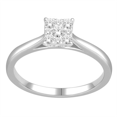 10k White Gold 1/4ct TDW Diamond Ring (H-I, I2)