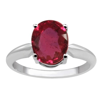 0.75Ct Oval Ruby Solitaire Ring in 14k Gold