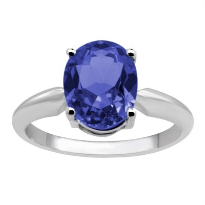 1.07Ct Oval Tanzanite Solitaire Ring in 14k Gold