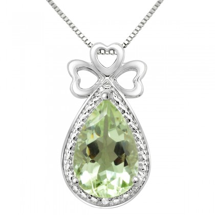 pendant msp jewelers green amethyst diamond