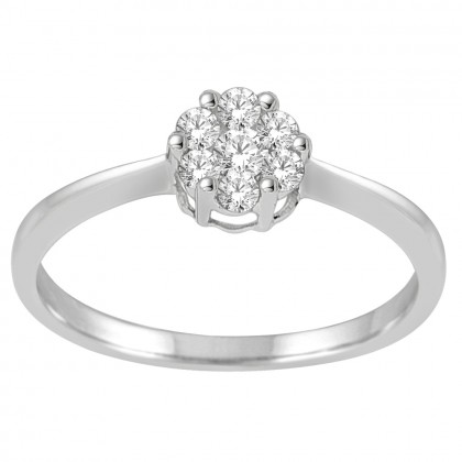 0.26CT Diamond Ring in .925 Sterling Silver