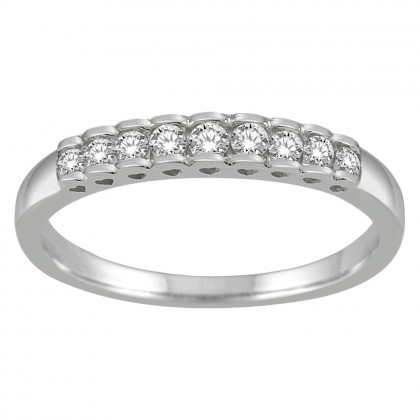 0.25CT Diamond Band in 925 Sterling Silver
