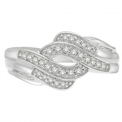 0.25CT Diamond Ring in 925 Sterling Silver