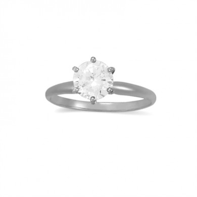 0.30 CT Diamond Solitaire Ring in 14K White Gold