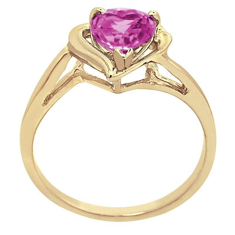 gemstone created diamond rings ring amp pink accent heart sapphire