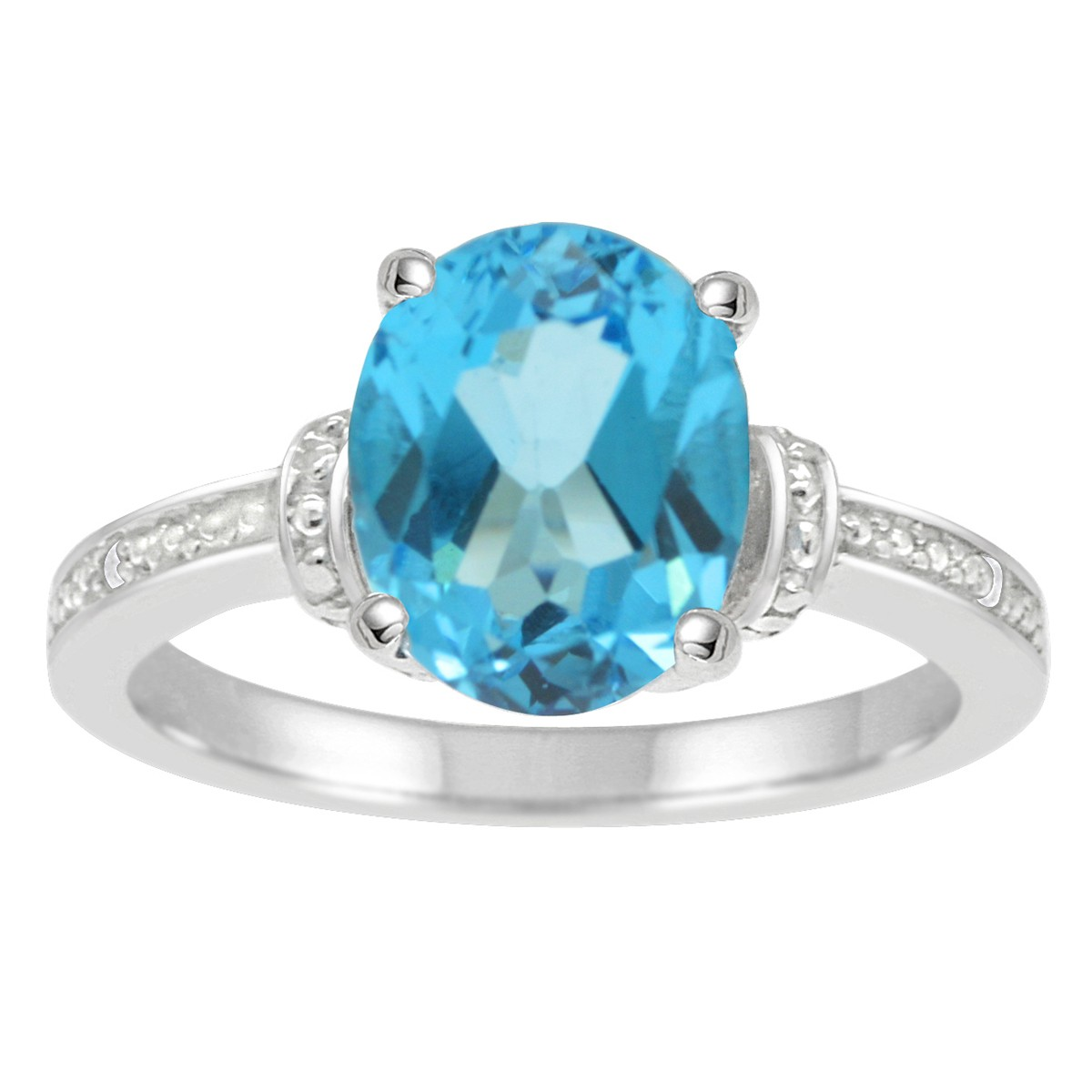 best value source for gemstone and diamond jewelry oval blue topaz and diamond. Black Bedroom Furniture Sets. Home Design Ideas